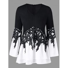 Free shipping 2018 Bell Sleeve Color Block Applique Blouse BLACK XL under $21.07 in Blouses online store. Best Kimono Sleeve Dress and Summer Sleeveless Dress for sale at Dresslily.com.