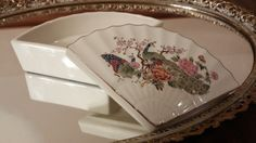 Porcelain Jewelry Trinket Box Ashtray Soap by frankiesfrontdoor