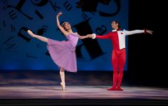 The Australian Ballet Principal Artist Ako Kondo and Ty King-Wall in Alice's Adventures in Wonderland Photography Lynette Wills