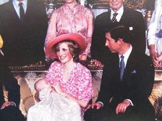 Charles & Diana, William's christening picture