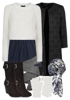"""Allison Inspired Winter Outfit with a Cropped White Sweater"" by veterization ❤ liked on Polyvore"