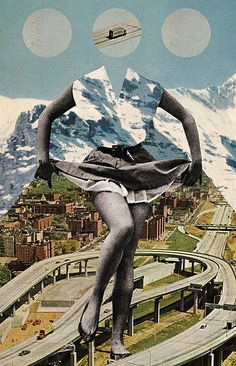 via tumblr | #mixed_media #collage