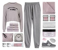"""""""vibes"""" by amazing-abby ❤ liked on Polyvore featuring H&M, Topshop, Martex, Urban Decay, Asya Malbershtein, Davines, Infinity Instruments, Natasha, New Balance and beautyblender"""