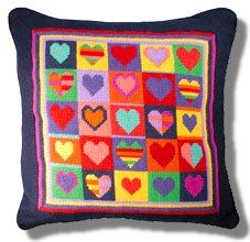 Jolly Red 'Jolly Hearts' Tapestry Kit