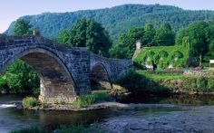 Tu Hwnt i'r Bont (Beyond the Bridge) Tearoom on the River Conwy in Wales. The building dates back to 1480. - photo & info courtesy of Heritage of Great Britain