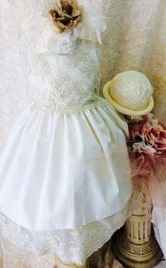 Kommunion Kleid Couture Taufe Seide und von ElenaCollectionUSA