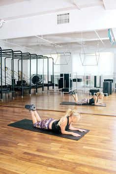 Body-Changing Tips From Tracy Anderson #refinery29  http://www.refinery29.com/2013/11/56720/tracy-anderson-method#slide1  For Strong, Slim Arms  Start with belly flat against the floor, legs raised to a 45-degree angle.
