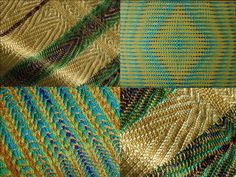 Peacock colours used for different twills. | Weefschool De Hoeve