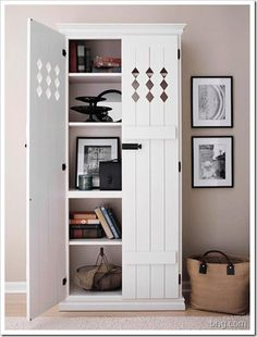 add shutters to a bookcase