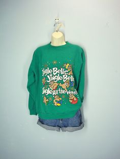 80s Ugly Christmas Sweatshirt / Jingle Bells / by ShirleyBoutique