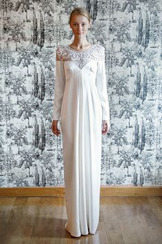 Wedding dress with sleeves from Temperley, Florence 2013