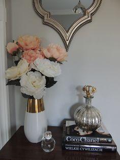 flowers / peonies / gold