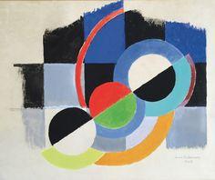 Sonia Delaunay (1885-1979), Rythme coloré, 1948, F126a, gouache signée et datée 1948, 50 x 65 cm. Estimation : 30 000/40 000 €.  © Pracusa 2016104 Mercredi 2 mars, Bordeaux. A. Courau SVV. Mme Sevestre-Barbé.