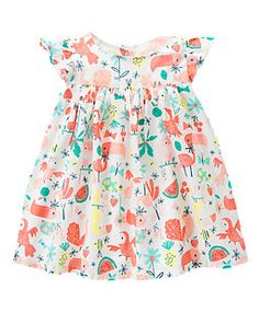 Rainforest Dress: $16.48, available in sizes 3 to 24 months. Gymboree: $, local Cville franchise