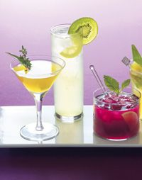 Mocktails! Toast the season in high spirits with festive nonalcoholic drinks.
