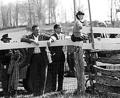 Photo of JFK at the Middleburg Spring Races. Middleburg, VA.