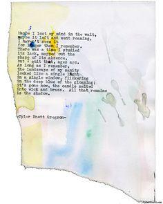 Typewriter Series #1787 by Tyler Knott Gregson