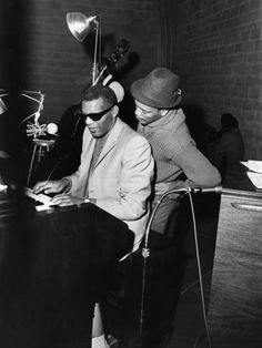 Ray Charles and Quincy Jones