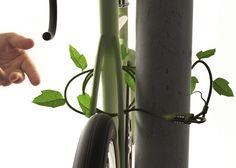 ivy candado vegetal bicicleta