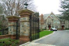 Stone gate entry - traditional - Exterior - Philadelphia - OMNIA Group Architects