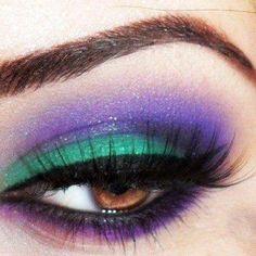 Purple, teal, cat eye. Perfect.