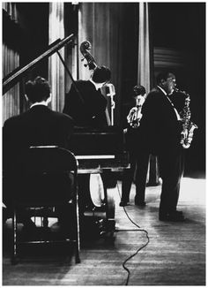 Charlie Parker, Chet Baker, Jimmy Rowles and Carson Smith, in Los Angeles in 1953