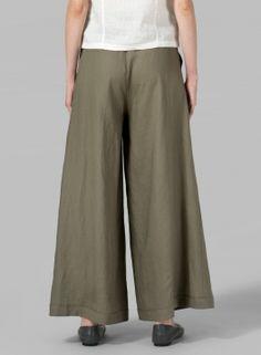 Linen Wide-Leg Pants