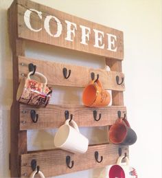 Get your coffee fix started! (with this amazing DIY coffee mug holder!)