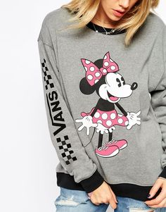 Image 3 of Vans Disney Crew Neck Sweatshirt With Minnie Mouse Print