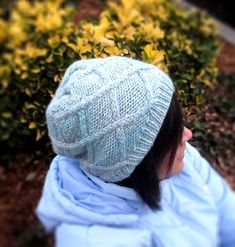 Intwined Slouchy (Knitted Cap) pattern by DesiLoop - Knit Cap Winter Knitting Patterns, Body Chart, Knitting Accessories, Stockinette, Crochet Designs, Knit Beanie, Spice Things Up, Wool Blend, Knitted Hats