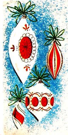 Items similar to Vintage Christmas Card Tree Ornaments on Etsy Vintage Christmas Images, Vintage Christmas Ornaments, Retro Christmas, Vintage Holiday, Christmas Pictures, Christmas Art, Christmas Holidays, Holiday Images, White Christmas