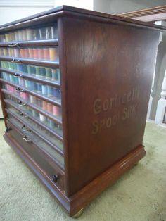 Old thread storage cabinet