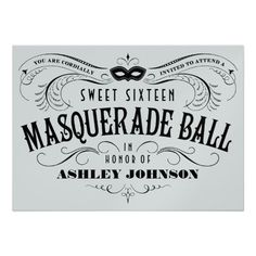 Masquerade Ball Invitations in Purple | Masquerade ball ...