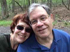 Today I am grateful that Carvins Cove is as good for hiking as it is for kayaking. With my beloved spouse and hiking buddy, Buffy Lyon.