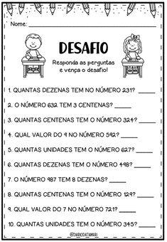 Atividade - Desafio Matemático Preschool Learning Activities, Home Learning, Preschool Math, Teaching Kids, Math Exercises, Math Facts, Study Inspiration, Math For Kids, English Vocabulary