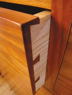 "DR. WHITE'S CHEST by Thos. Moser | ""The combination of detailed joinery, including dovetailed drawers, makes it a unique and special piece for me to craft."" Thos. Moser Master cabinetmaker, Brenda Swett. #MoserHoliday2013 #furniture #chest"