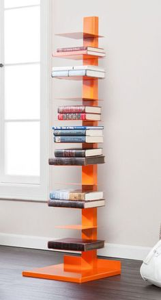 Colonne Media Storage in Orange