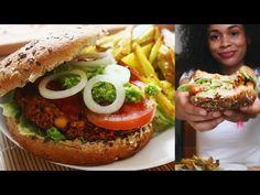 Leckere vegane Burger & Pommes - Wohlfühlrezept - YouTube