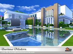 Burinna Modern house by autaki at TSR • Sims 4 Updates