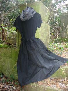Damenkleid aus Wickelrock + T-Shirt genäht