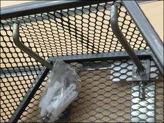 90 Deg Utility Hook on Armored Slatwall Expanded Metal, Slat Wall, Hooks, Channel, Mesh, Home Appliances, Retail, Grey, Color