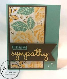 Margie's Crafts: WELL SAID sympathy card created using Stampin' Up! products