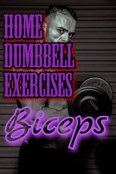 biceps workout Bicep workout at home. No gym needed. Dumbbell only. Bicep exercises for bigger arms. Work your biceps with only dumbbells. Personal Fitness, You Fitness, Fitness Goals, Fitness Motivation, Dumbbell Bicep Workout, Dumbbell Exercises, Arm Workouts At Home, Ripped Workout, Big Biceps