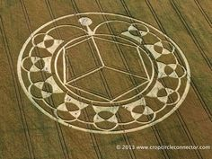 Crop Circle at Monument Hill, Devizes, Wiltshire United Kingdom. Reported 6th August 2013