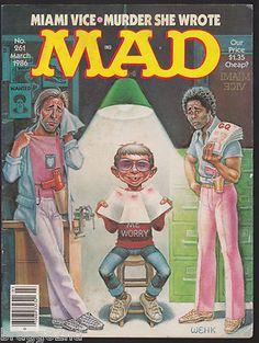 March 1986 MAD MAGAZINE #261 Miami Vice/Murder She Wrote CROCKETT