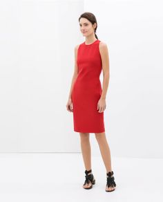 Image 1 of DRESS WITH STRAPS ON THE BACK from Zara
