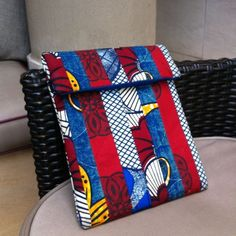 Patchwork iPad sleeve by Urbanknit #patchwork #iPad #handmade #ankara�