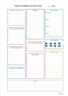 Daily planner for success