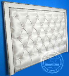 CUSTOM HEADBOARD in ALL sizes, tufted/upholstered, diamond buttons-nails, wide trim, handmade to order. design your own on Etsy, $500.00