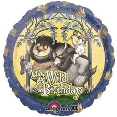 Where the Wild Things Are Birthday 18 Mylar Balloon - Packaged - Balloons - Toys - $2.49